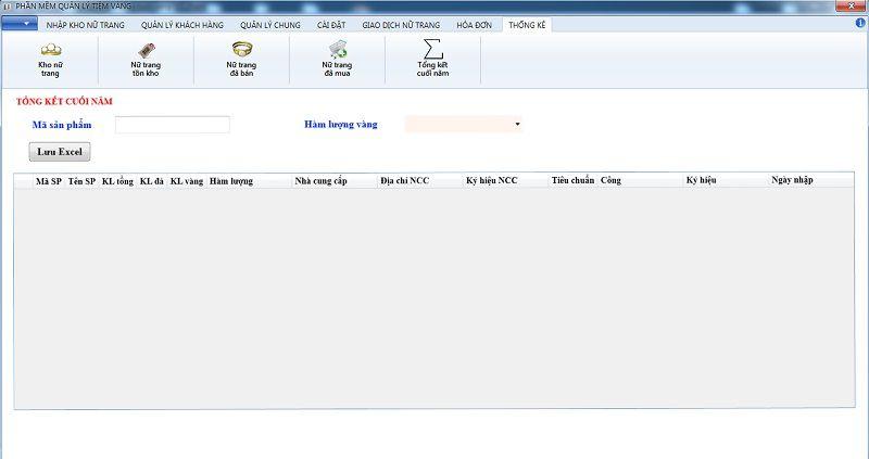 Phần mềm quản lý mua bán vàng