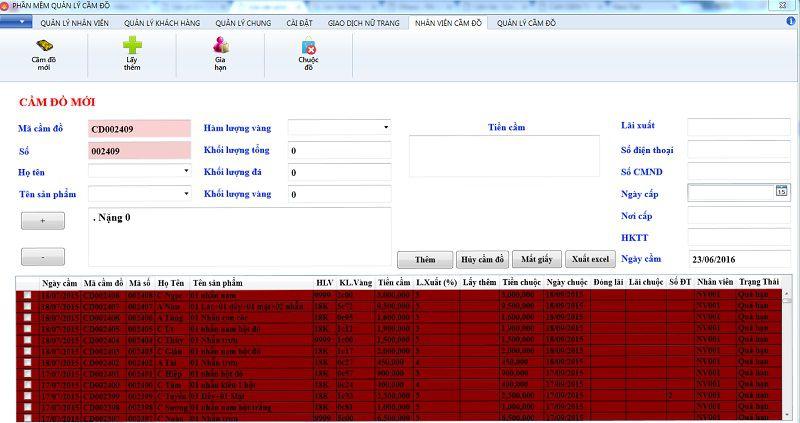cầm đồ phần mềm quản lý tiệm vàng