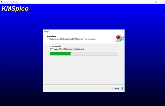 Hệ thống đang tiến hành Crack cho office 2013, có thể mất 1 -2 phút.