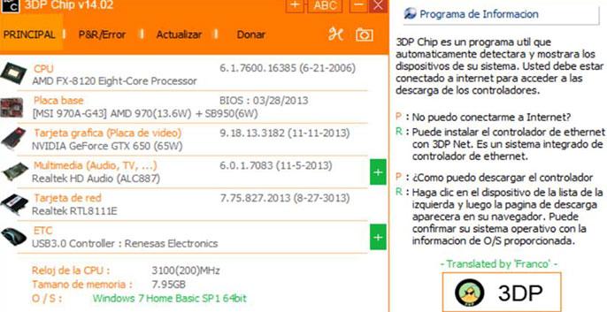 phần mềm cập nhật driver 3dp chip