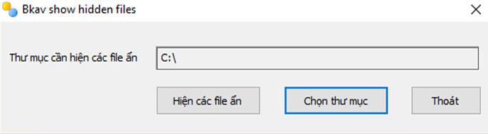 phần mềm hiện file ẩn fixattrb bkav