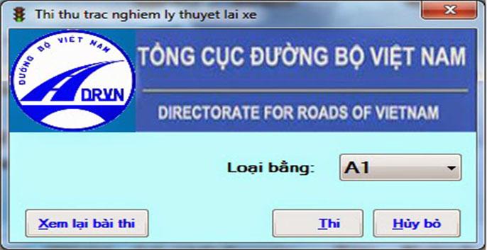 phần mềm thi bằng lái xe a1