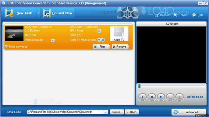 Phần mềm chuyển video sang mp3 total video converter