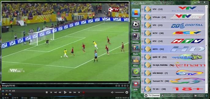 phần mềm xem tivi - Viet Simple TV